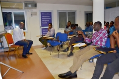 A Participant answering question during the Training Programme
