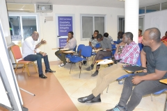 The Resource Person, Mr. Ato Afful answering a question pose by a participant