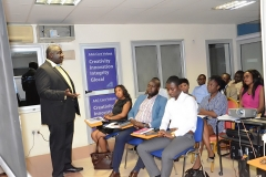 The President of AAG, Mr. Joel Nettey addressing participants of AAG Training Programme Module 3