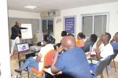 Participants of Module 4 Training Programme listening attentively to Mr. Clarence Nartey, the Resource Person