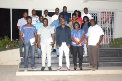The Resource Person, Mr. Clarence Nartey(middle - front row) and the Executive Director, Mr. Francis Dadzie(first from right - front row) in a group picture with participants of Module 4 Training Programme.