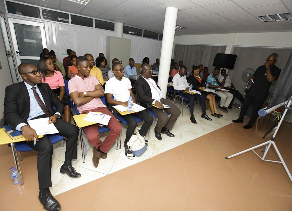 Participants listening attentively to the Resource Person,
