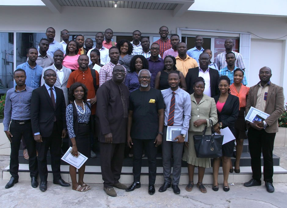 Don Obilor the Resource Person in a group picture with participants of the AAG Professional Development Programme